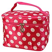 ba407a9c78 Zetenis Women Round Dot Cosmetic Bag Big Travel Lingerie Bra Underwear Bags  - Hot Pink