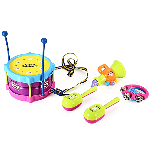 Learning & Education Toy Musical Instrument 5pcs Baby Boy Girl Drum Musical Instruments Kids Band Kit Children Toy Gift Hot Cheap Sales