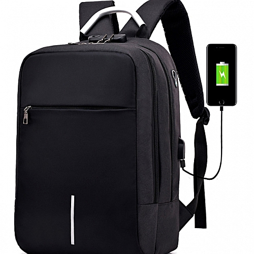 fa8b59d2c06 Anti Theft Oxford Smart Bag With Password Lock + Headset Jack With USB  Charging Port,