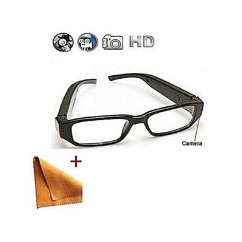SpyCamera Eye Glasses;1080P Wide Angle Camera;SD Card Slot