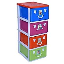 1c93a387cb70 4 Layer Plastic Storage Baby Wardrobe-multicolor-different Color  amp   Pattern