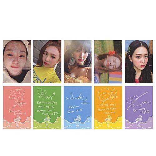 5Pcs/set Youpop KPOP Red Velvet The Red Summer Album Photo Card K-POP Self Made Paper Cards Autograph Photocard