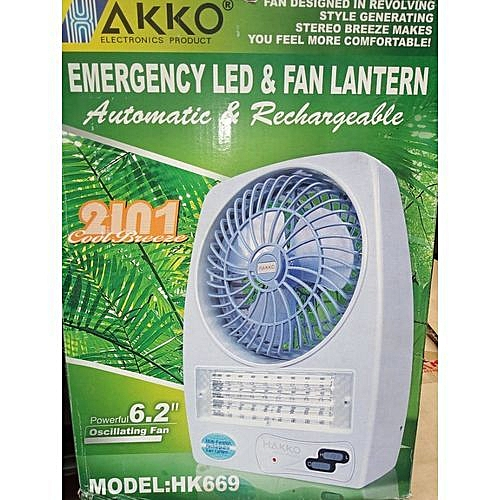 Rechargeable Desk Box Fan + Lantern