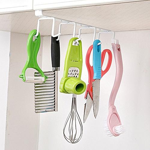 Hanger Cupboard Hanging Hook Economic Iron White Bathroom Cup Kitchen Storage Rack Towel Home