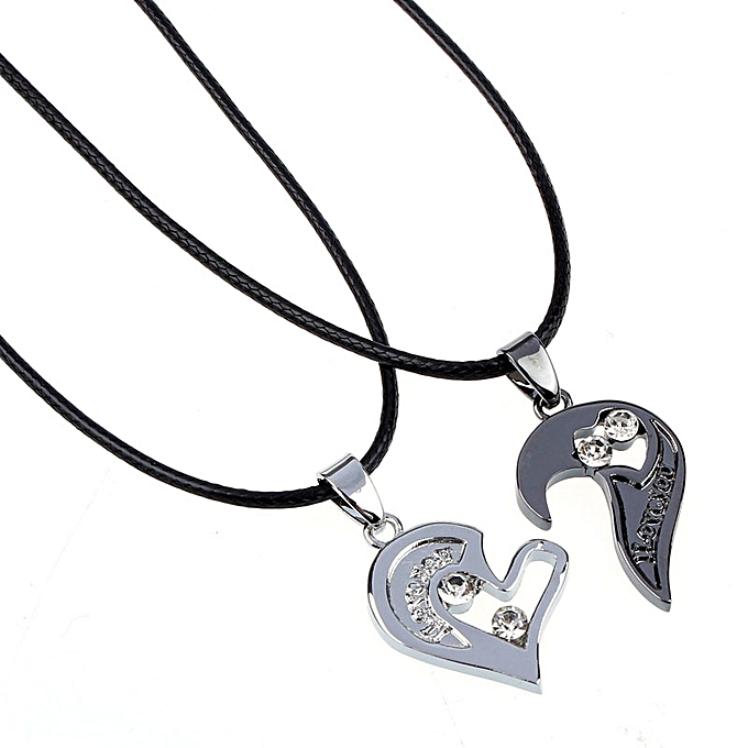 Buy neworldline two in one i love you heart pendant necklace lovers two in one i love you heart pendant necklace lovers couples gift black aloadofball Image collections