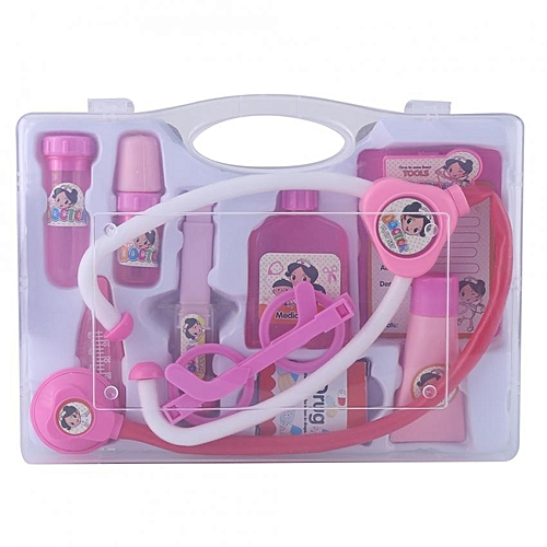 Kids Pretend Play Doctor Nurse Medical Toys Set With Carry Case Preschool Educational Toy(Pink)