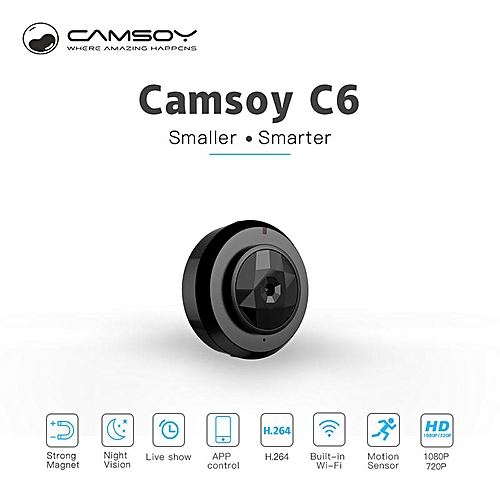2019 C6 Camsoy Cookycam Micro Wifi Mini Camera Wireless HD 720P With Night Vision Smartphone App IP Home Security Video Camcorder