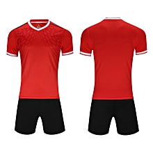 Men Soccer Football Jerseys Clothing Uniforms Suit Short Sleeve O-neck  Printing-Red 058afc2cb