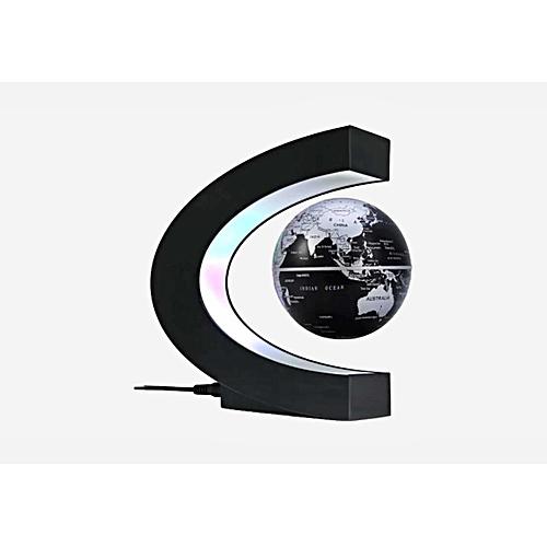Floating Globe Magnetic Levitation World Map C Shape Base