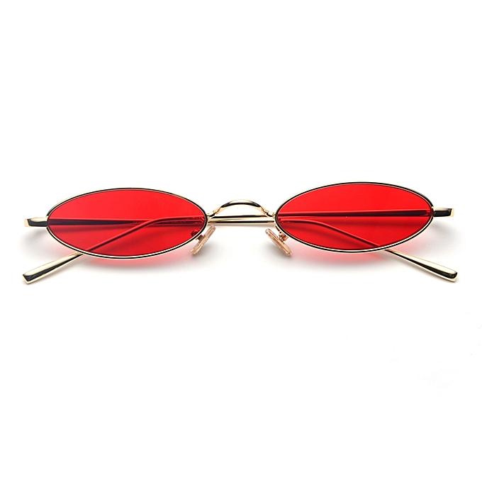 Men Metal Retro Small Sunglasses Oval Red For Sun Frame Round Vintage Women Glasses jUVSMLzGqp