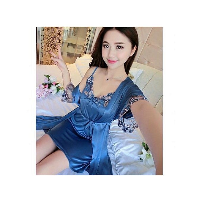 6f8b553c4445 Sexy Sleepwear Robe Pink Sleepshirts Sexy Home Dress Nightwear Women Sleep  Wear Robes Sleep Lounge Soft