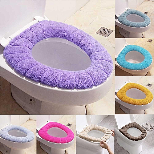 Shinewerop 1PC Home Practical Simple Pure Color Soft Plush Toilet Mat