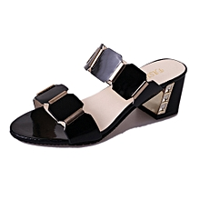 471ba9cc7235 Bliccol High Heel Shoes Women Fish Mouth Slipper High Heels Sandals  Antiskid Toes Party Shoes Flip