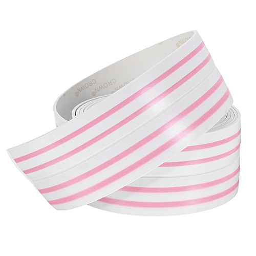 Kitchen Bathroom Wall Corner Sealing Gum Waterproof Anti-Mildew Adhesive Tape Pink