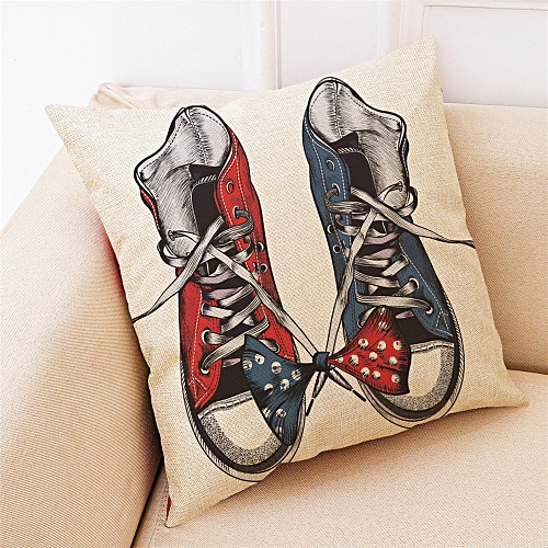 Fashion Home Decor Cushion Cover Fashion Shoes Throw Pillowcase Pillow Covers For Car