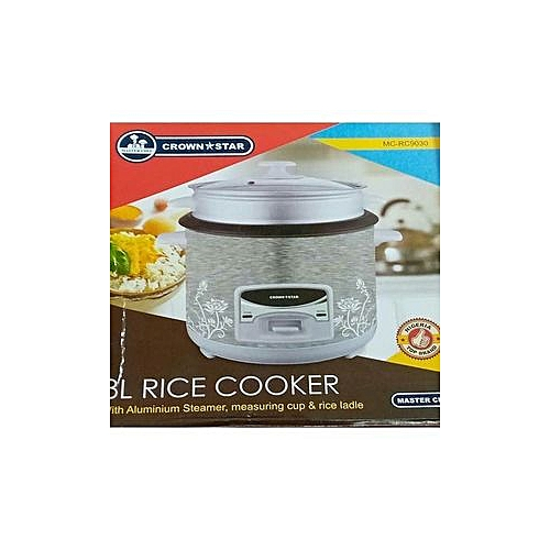Multifuctional Rice Cooker And Deep Fryer - Silver - 3 Litres