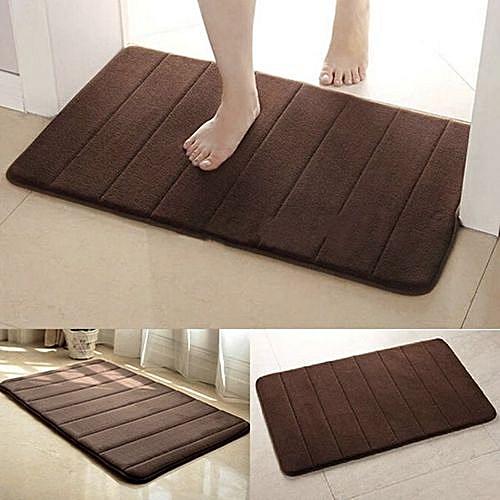Water Absorbent Non-slip Bathroom Mats Shower Carpet-Coffee