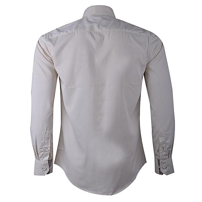 CRMD Trevor Classic Men s Long Sleeve Shirt - Cream  5ec435940c5