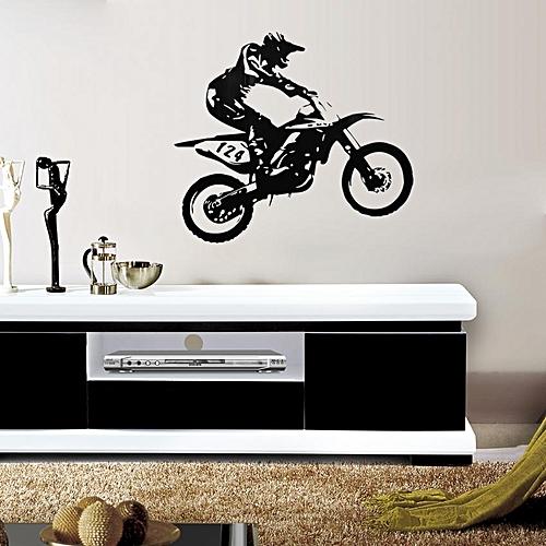 New Removable Black PVC Wall Sticker Motor-Racing Art Vinyl Decal Home Decor