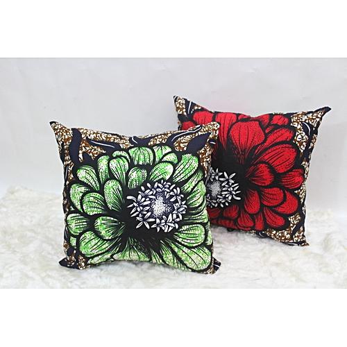 A Set Of 2 Ankara Throwpillows (Cover And Pillow)