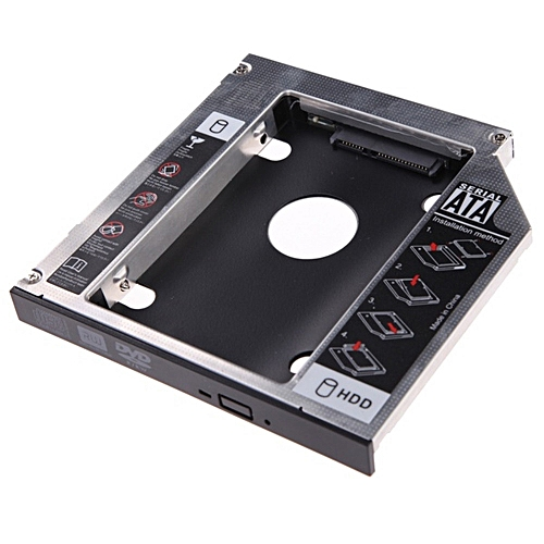 100% New 9.5mm Universal SATA 2nd HDD SSD Home PC Hard Drive Caddy CD/DVD-ROM Optical Bay