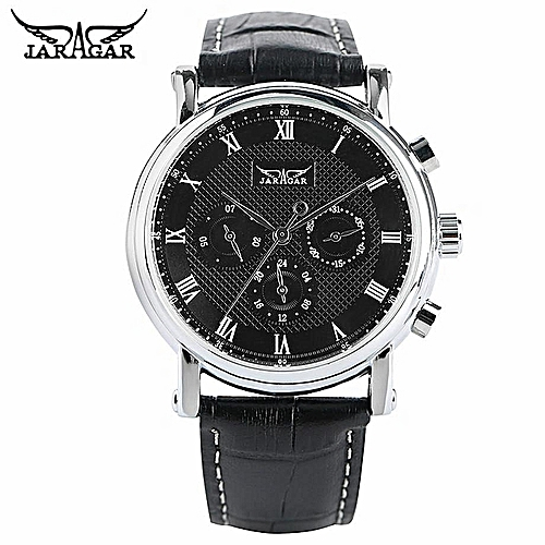 JARAGAR Top Brand Luxury Classic Automatic Mechanical Watch Men Black/White Dial Date Display Watches Business Roman Numbers Fashion Clock Gift