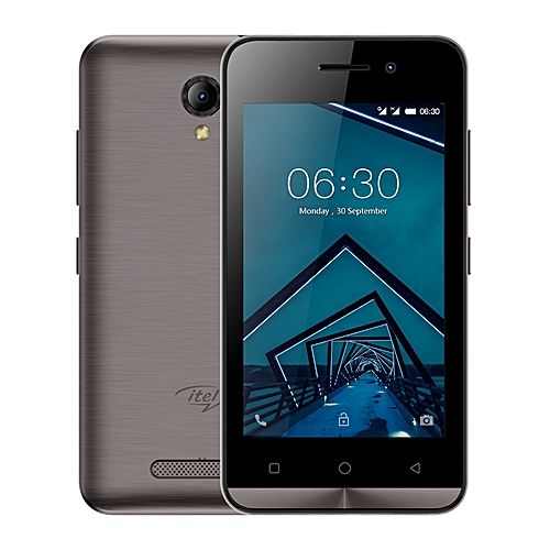 itel a11- 4 Inch Screen Android 6.0 os - Dual Sim Wireless fm With free case- Moca Gold