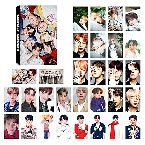 Eleganya 30 Pcs/Set Kpop BTS Fashion Photo Cards Boutique Small Cards