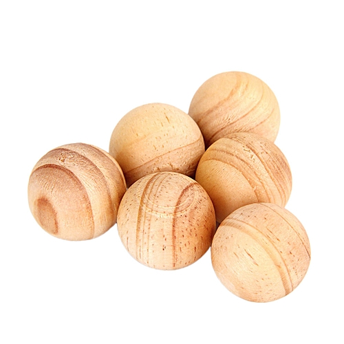 Anti Moth Balls Round Camphor Natural Wooden Color 5 Pcs Home Car Room Protection