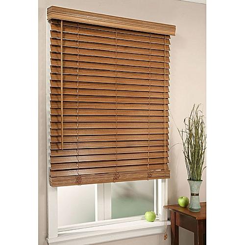 BROWN WOOD WINDOW BLIND