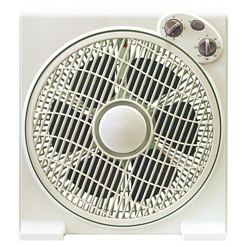 "12""Box Fan BF-1277-grey, With 80 Degree Oscillation"