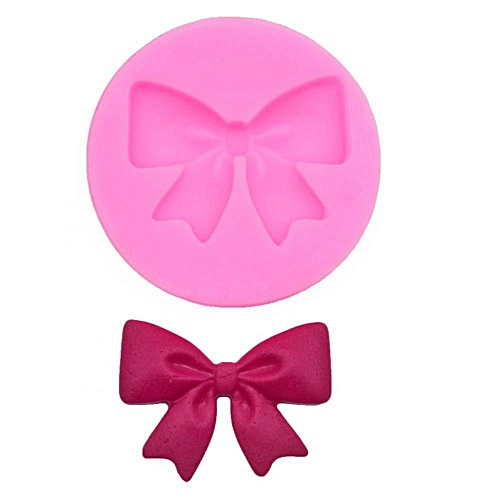 Fondant Silicone Mold Cake DIY Decorative Cute Bow Shaping Mold For Chocolate Baking Desserts