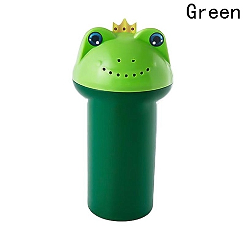Shinewerop Creativity Cute Frog Thicken Plastic Water Spoon Baby Shampoo Showers Cup