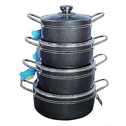 4 Sets NonStick Cooking Pots 16,18,20,22cm