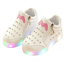 d9a9ea9fd3 Shoes Children  039 s Shoes Girls Colorful LED Lighting Flash Whie