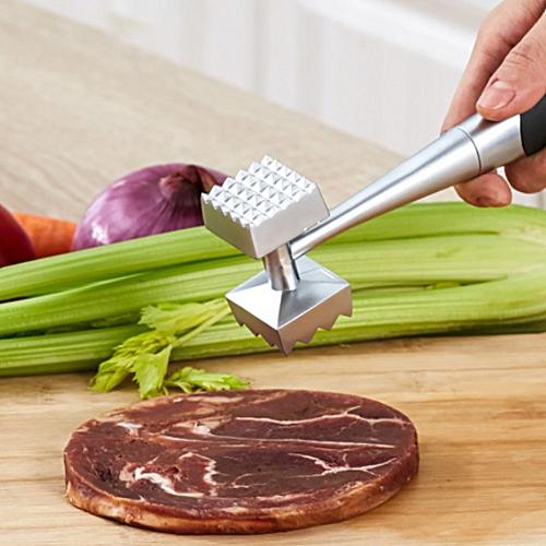 Aluminium Metal Meat Mallet Tenderizer Steak Beef Chicken Hammer Kitchen Tool