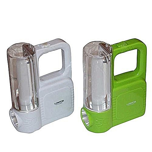 Rechargeable Camping Lantern With USB Charging Function - CTL-OL054U - White/Green