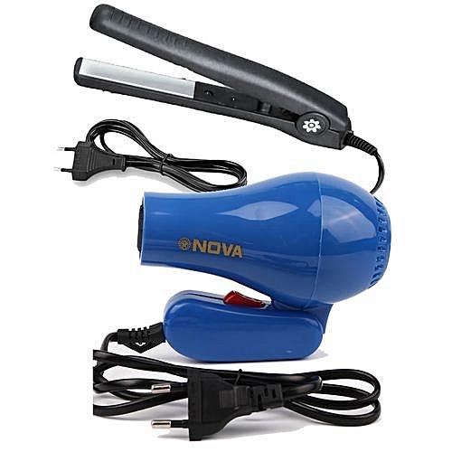 Foldable Hair Dryer & Universal Hair Curler/Straightener