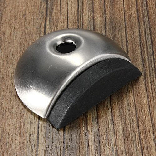 Stainless Steel Door Stop Stopper Wall Mounted Buffer Projection Fixed Rubber