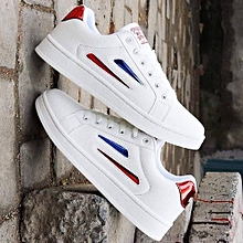 db92833b3ba8 Smart Trendy Unisex Sneakers - White Intouch Of Red Blue