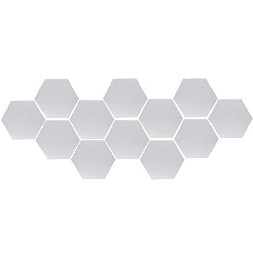 120Pcs Mirror Hexagon Removable DIY Wall Sticker Art Decal Home Decor 126x110mm