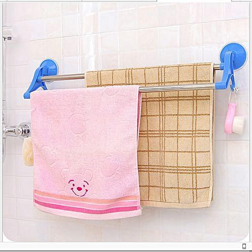 Kitchen Rack Bathroom Towel Hanger Double Rail Self Suck