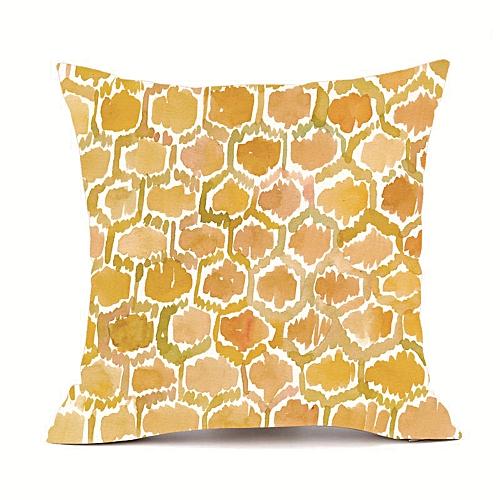 Printed Soft Throw Pillow Case With Gold ,Sofa Car Chair DecorPillowcase Cushion