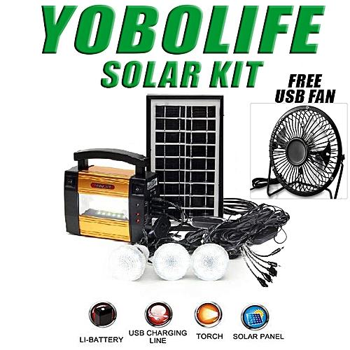 SOLAR ENERGY KIT PORTABLE WITH FREE USB FAN