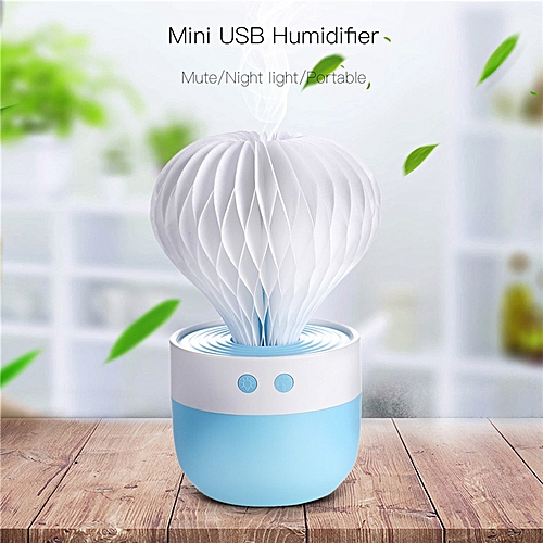 USB Mist Humidifier For Home Office Car Travel Cactus 150ml Mini Humidifier With 7 Color LED Lights