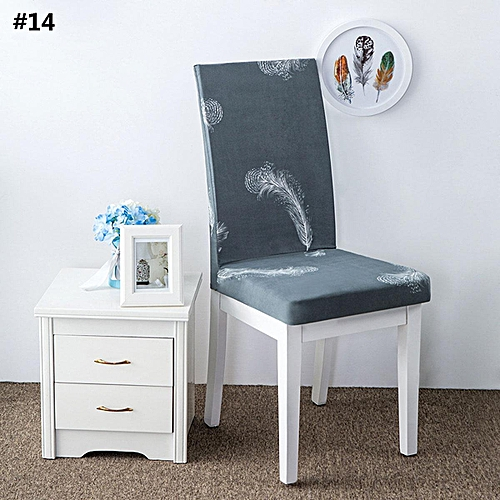 KCASA WX-PP6 Elegant Flower Landscape Elastic Stretch Chair Seat Cover Dining Room Home Wedding Decor
