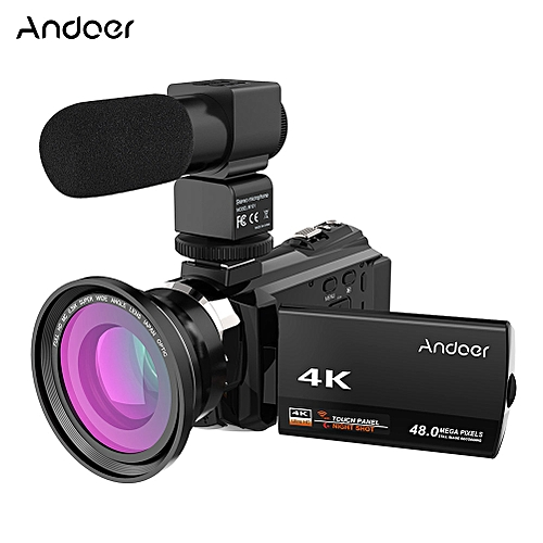 4k Video Camera >> Andoer 4k 1080p 48mp Wifi Digital Video Camera Camcorder Recorder