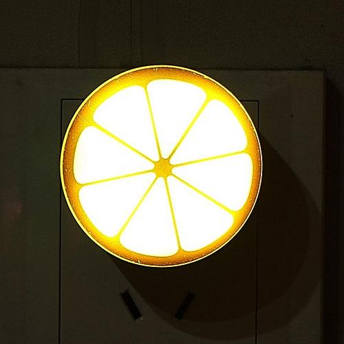 LED Lemon Night Light Auto Sensor Control Lamp For Bedroom