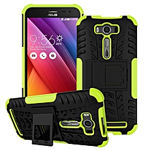 "For ZenFone2 Laser ZE500KL (5.0"") Case, 3 In 1 Tyre Grain Shockproof Phone Housing With Foldable Stand Holder TPU + PC Back Cover Case For ASUS ZenFone 2 Laser ZE500KL"