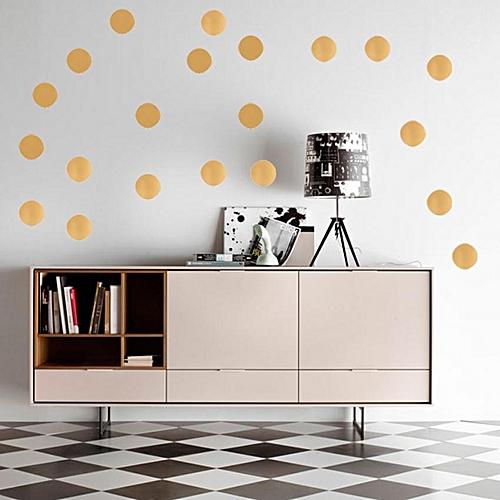 Gold Polka Dots Wall Decal Vinyl Sticker Pattern Home Party Decor (10cm X 20pcs)
